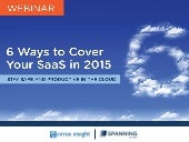 6 Ways to Cover Your SaaS in 2015