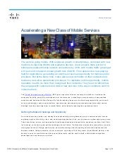 Accelerating a New Class of Mobile Services with the Cisco Evolved Services Platform