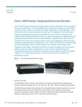 Cisco 2900 series integrated servic...