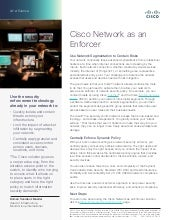 Cisco Network as an Enforcer