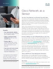 Cisco Network as a Sensor