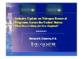 Industry update on nitrogen removal...
