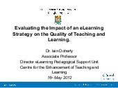 Evaluating the Impact of an eLearni...