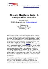 Cities In Northern India  A Compara...
