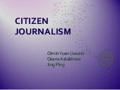 Presentation - Citizen Journalism