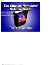 Citizens Homeland Defense Guide I  ...