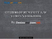 Citizens of Humanity A/W' 13 Men's ...