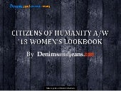 Citizens of Humanity A/W' 13 Women'...