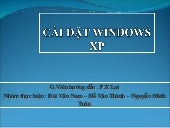 Cài đặt windows xp