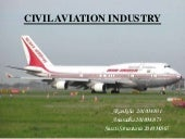 Civil aviation presentation