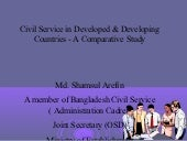 Civil service in developed & develo...