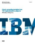 Cloud computing insights from110 implementation projects