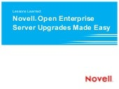 Lessons Learned: Novell Open Enterp...