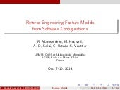 Reverse Engineering Feature Models from Software Configurations