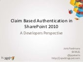 Claim Based Authentication in Share...