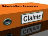 Claims statistics using Mind Mapping