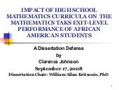 Dr. Clarence Johnson, PhD Dissertat...