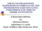 Clarence Johnson, Dissertation PPT,...