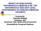 Clarence Johnson, PhD Dissertation ...
