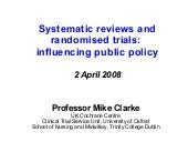 Systematic reviews and randomised t...