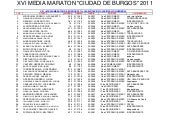 Clasificacion general. media de bur...