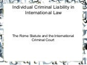 International Criminal Court: Juris...