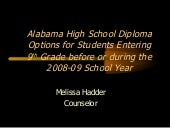 SCHS Class of 2012 Diploma Options ...