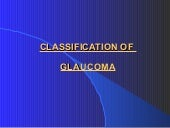 Classification of Glaucoma