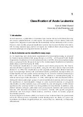 Classification of acute leukemia