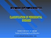 Classification of periodontal disea...