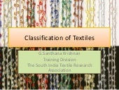 Classification of textiles