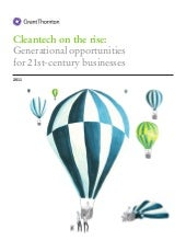Cleantech on the rise - report 2011