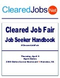 Cleared Job Fair Job Seeker Handbook April 9, 2015, Dulles, VA