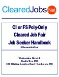 Poly-Only Cleared Job Fair Job Seeker Handbook March 2, 2016, BWI, MD