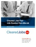 Cleared Job Fair Job Seeker Handbook March 31, 2016, Tysons Corner, VA
