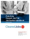 Cleared Job Fair Job Seeker Handbook November 3, 2016, Dulles, Virginia