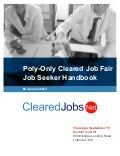 CI or FS Poly-Only Cleared Job Fair Job Seeker Handbook Sept 15, 2016, BWI, MD