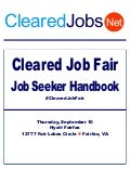 Cleared Job Fair Job Seeker Handbook September 10, 2015, Fairfax, VA