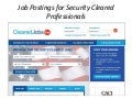 Job Postings for Security Cleared Professionals from ClearedJobs.Net