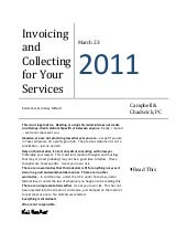 Invoicing and Collecting for your L...