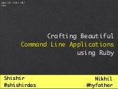 Crafting Beautiful CLI Applications in Ruby