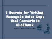 4 Secrets for Writing Renegade Sale...