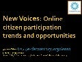 New Voices: Online citizen participation trends and opportunities (Finland)