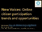 New Voices: Online citizen particip...