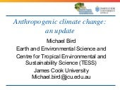 Climate Change - Prof Michael Bird
