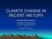 Climate change in recent history