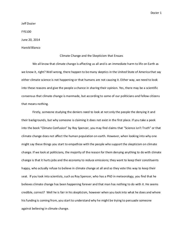global warming essays for students