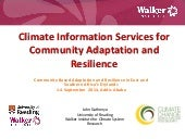 Climate Information Services for Community Adaptation and Resilience by John Gathenya