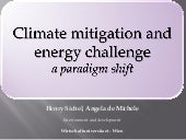 Climate mitigation and energy chall...
