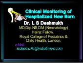 Clinical Monitoring of Sick Newborn...